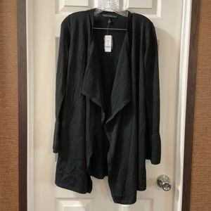 NWT WHBM Black Drama Sleeve Midi Cover-Up Cardigan